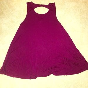 T shirt dress with back cut out